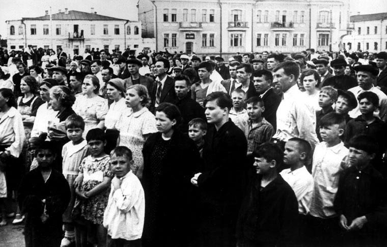 Митинг трудящихся Тамбова в связи с нападением фашистской Германии на Советский Союз - 22 июня 1941 г.