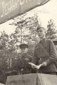 Клятва бойцов перед уходом на фронт - 1941 г.