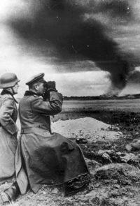 Немецкий генерал Крюгер в окрестностях Ленинграда - 1941
