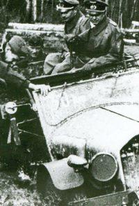 Генерал-лейтенант Шпонхеймер во время поездки по фронту - 1941